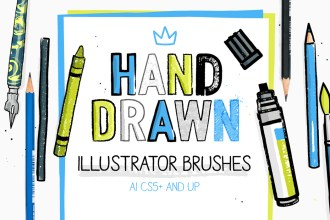 Hand-drawn Illustrator Brushes