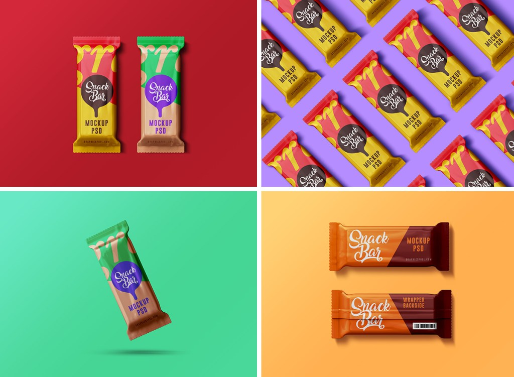 Snack Bar PSD Mockups