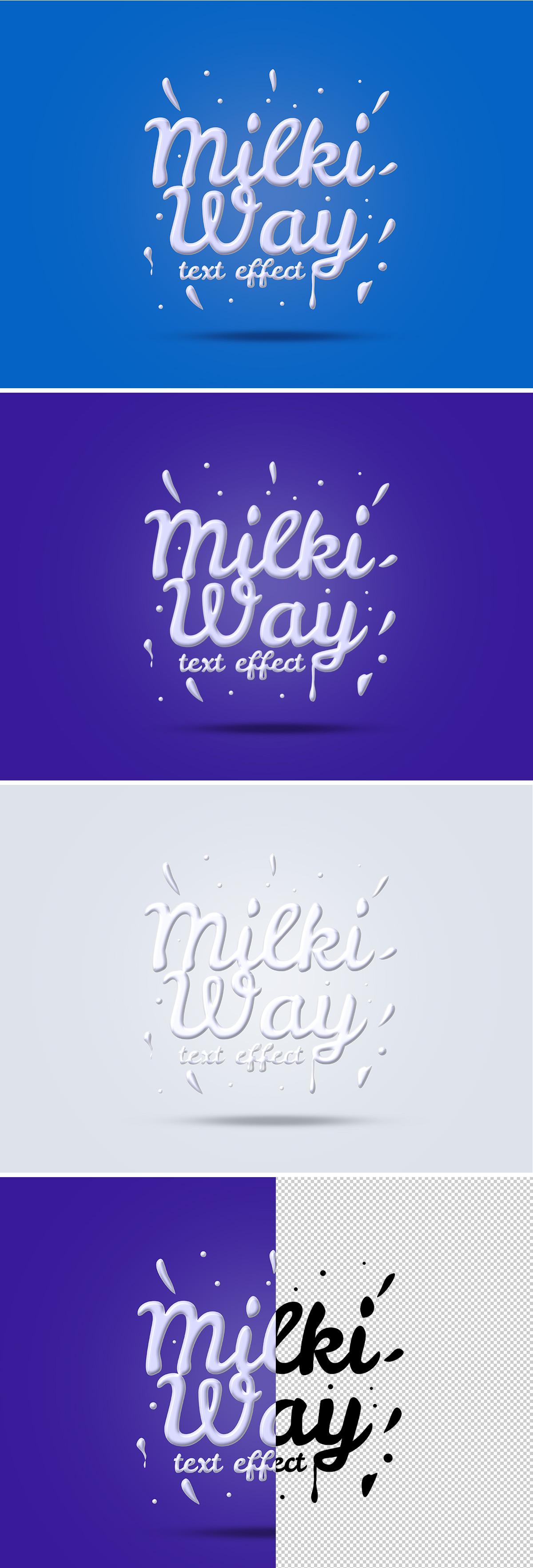 PSD Milk Text Effect