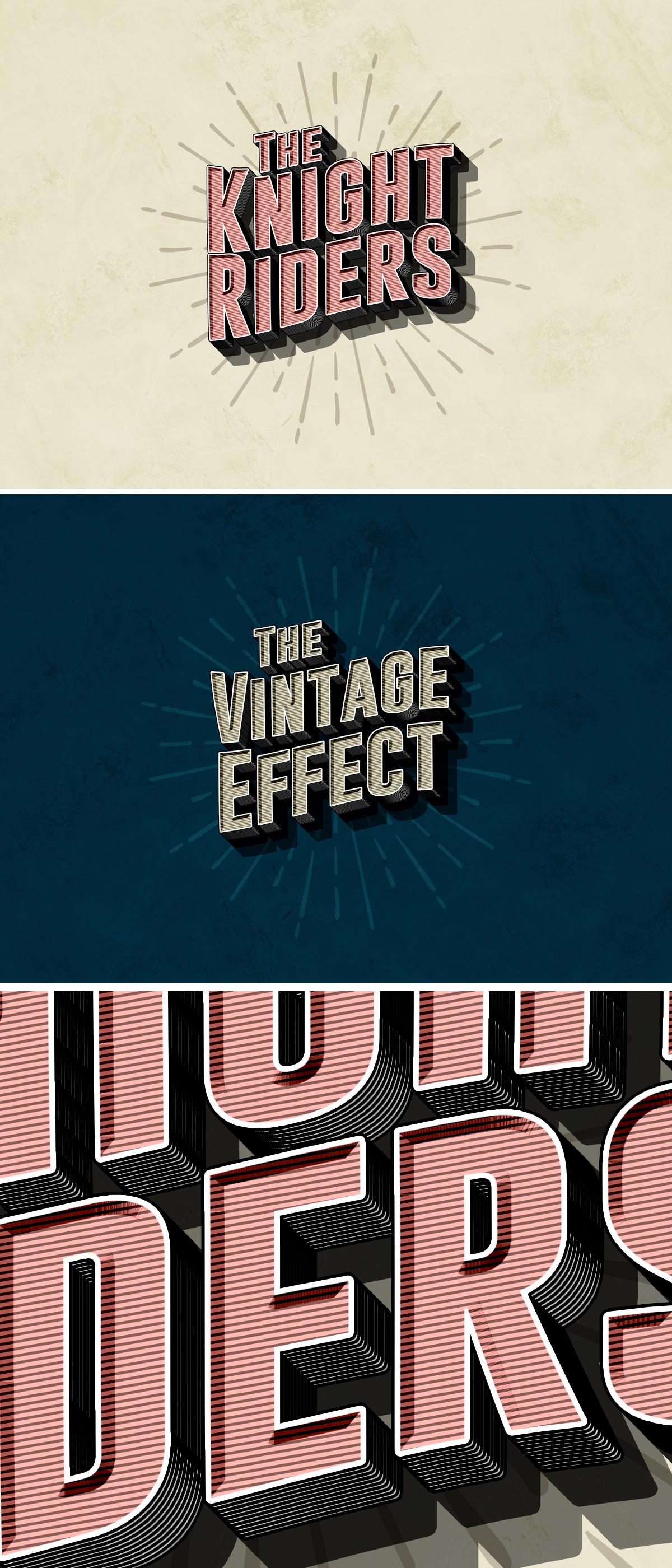Vintage PSD Text Effect