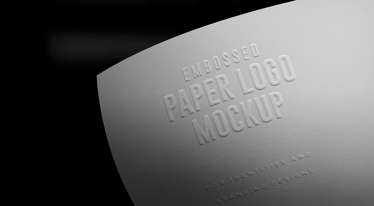 Paper Branding Logo Mockup PSDs