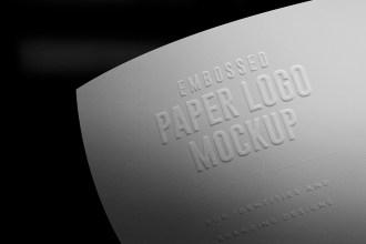 Embossed Paper Branding Logo Mockups