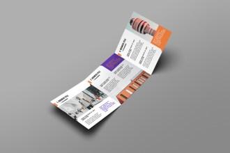 Square Tri-fold Brochure Mockups