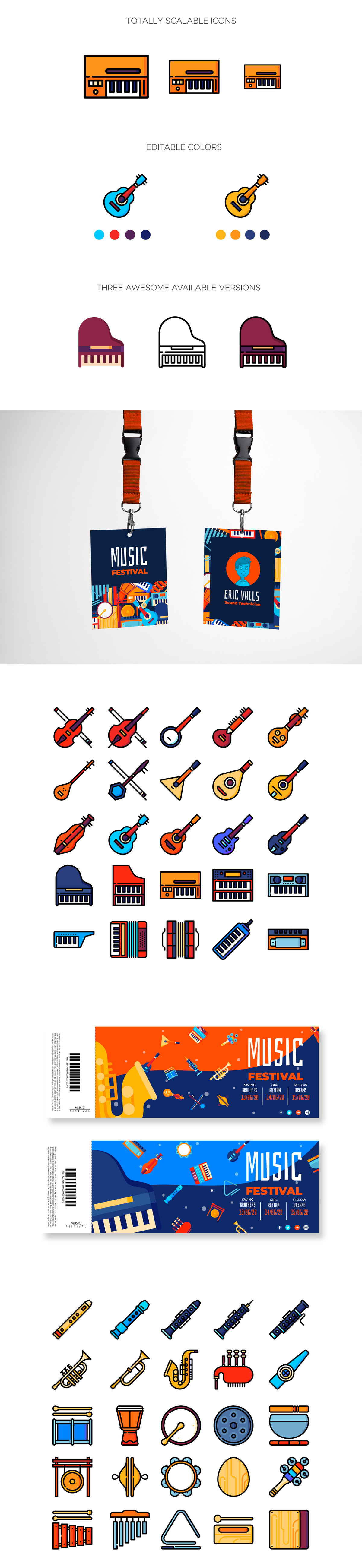 Free Music Instruments Icons