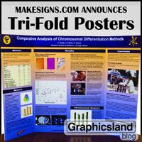 makesigns com announces new tri fold scientific posters graphicsland inc