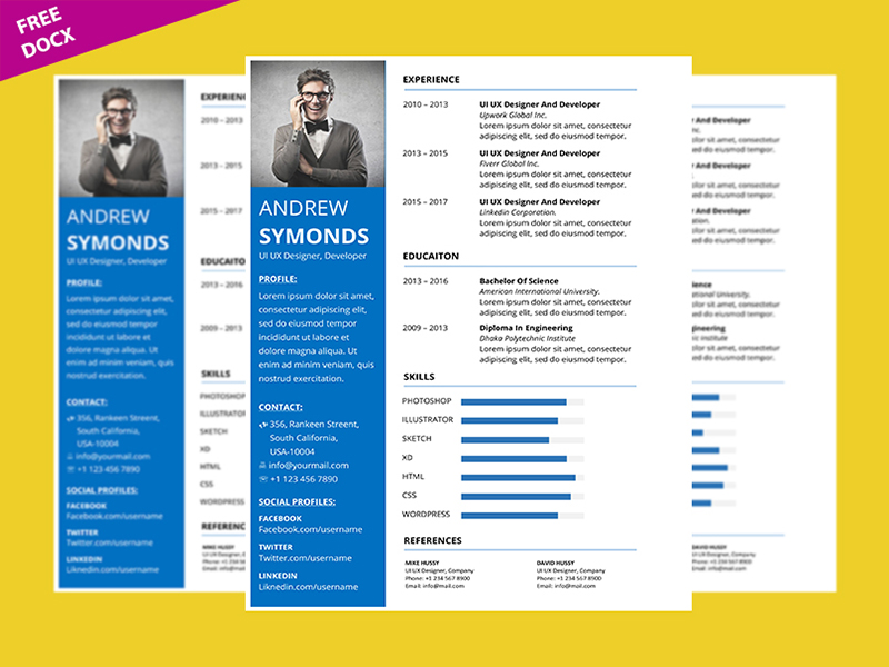 How To Create Clean Professional Resume Template in ...
