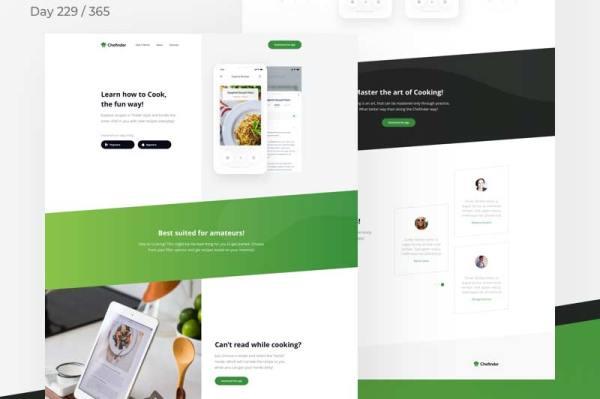 recipe-food-app-landing-page