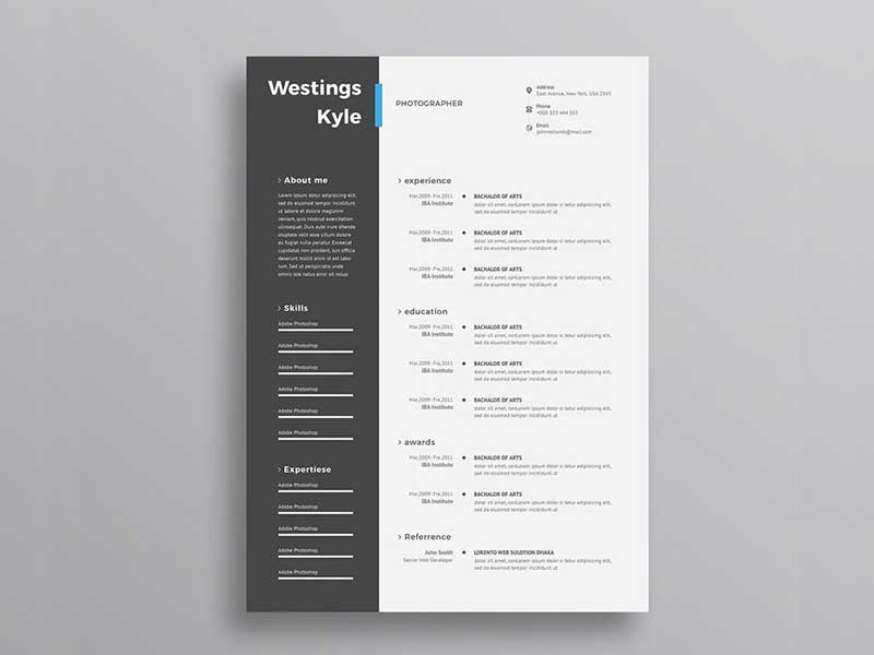 resume-template-psd-free-10 Template Cover Letter Job Free Black Elegant Resume Cv Design Ukzwbd on