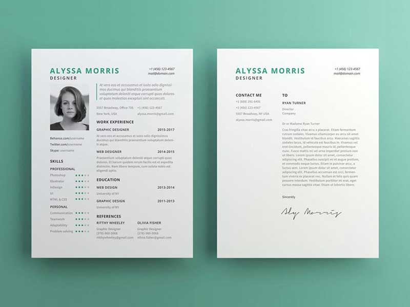 resume-template-psd-free-11 Template Cover Letter Job Free Black Elegant Resume Cv Design Ukzwbd on