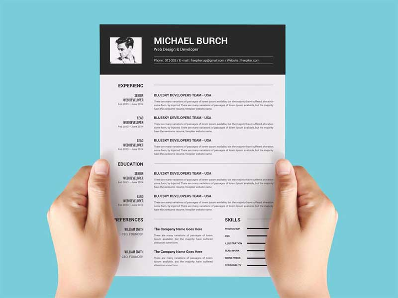 resume-template-psd-free-16