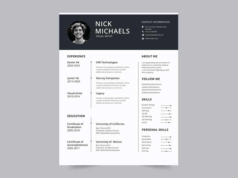 resume-template-psd-free-3