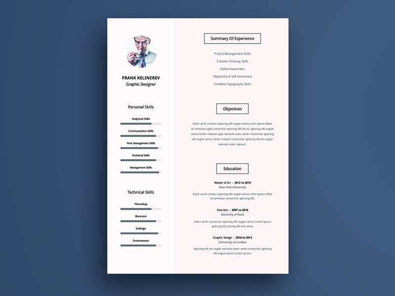resume-template-psd-free-5
