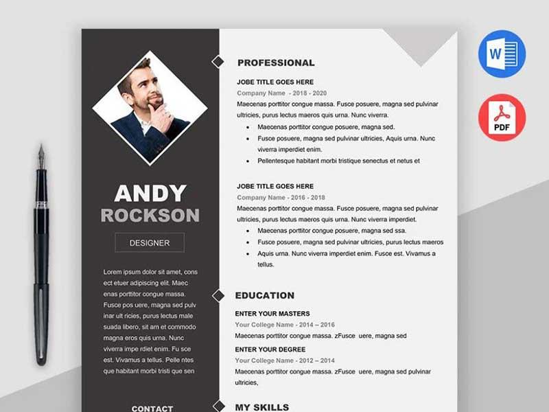 resume-template-psd-free-8