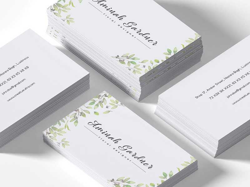 Free Floral Designer Business Card Template Graphicslot