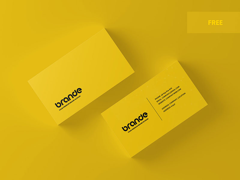 15 Free Business Card Mockup Psd 2019 Graphicslot