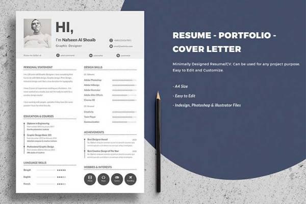 minimla-resume-template