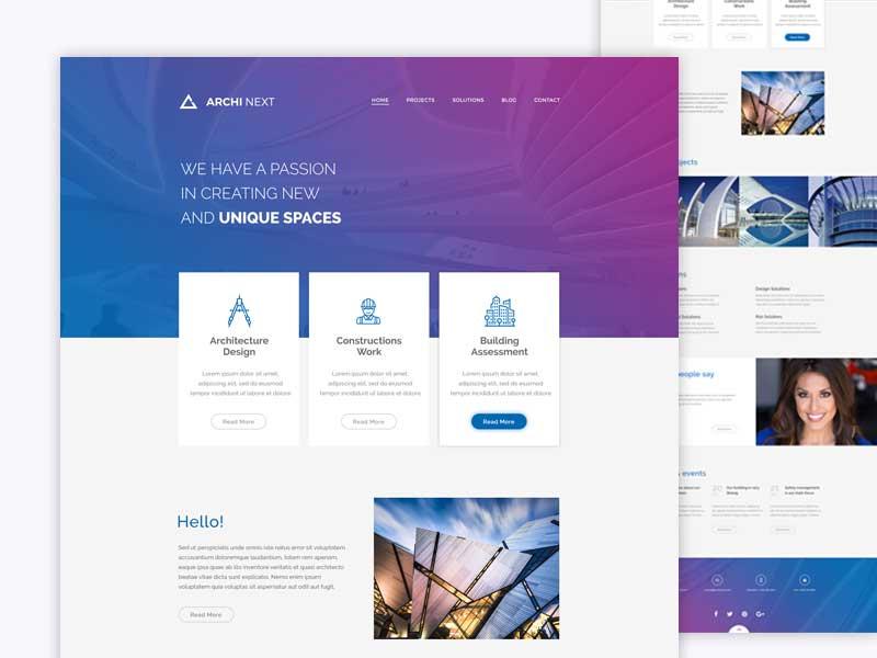 Archi-Next-website-(FREE-WordPress-and-PSD)