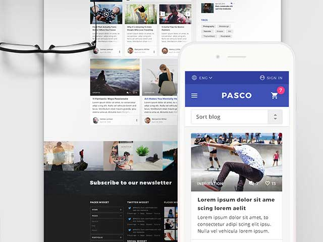 Pasco A free PSD multipurpose template