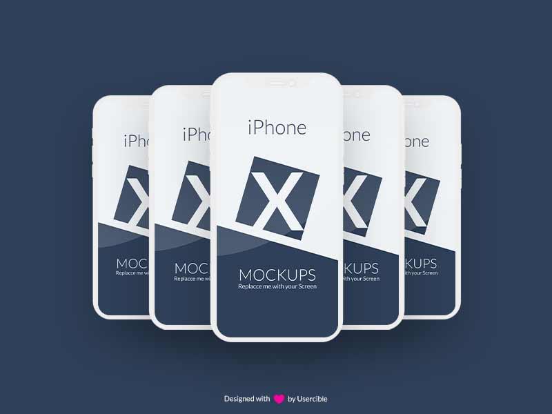 iphone x mockup psd