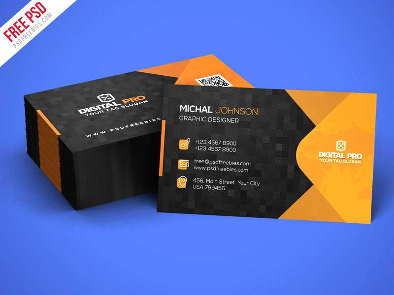 Free PSD : Modern Corporate Business Card Template PSD