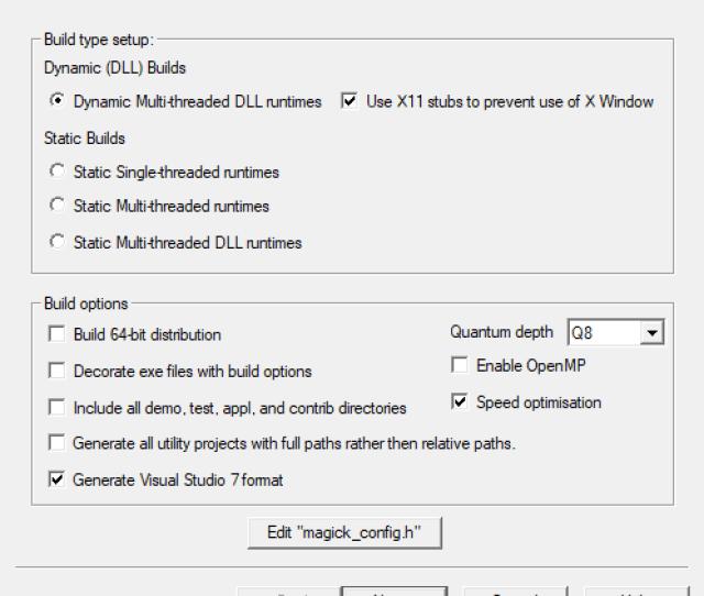 Configure Program Screen Shot