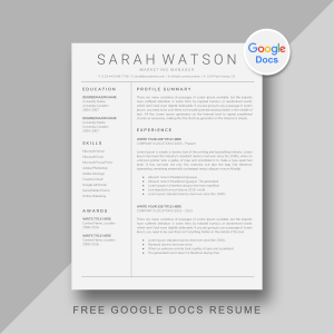 7 Free Google Docs Resume Template