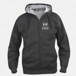 felpa jacket hoody full zip antracite melange