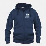 felpa jacket hoody full zip blu