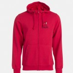 felpa jacket hoody full zip rosso
