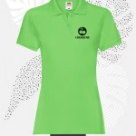 polo donna fruit of the loom 63030 donna lime