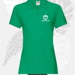 polo donna fruit of the loom 63030 donna verde prato