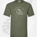 t-shirt uomo fruit 61036 oliva