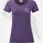 t-shirt donna fruit 61372 porpora heather