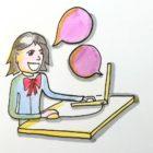 dessin d'enfant devant son ordinateur pour un coaching carte mentale en 1 to 1