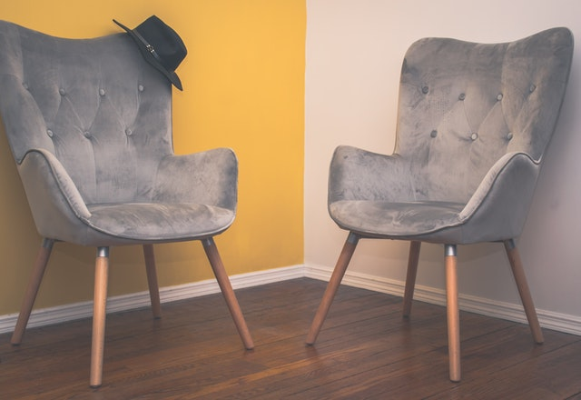 two suede armchairs for Living Room Furniture Ideas