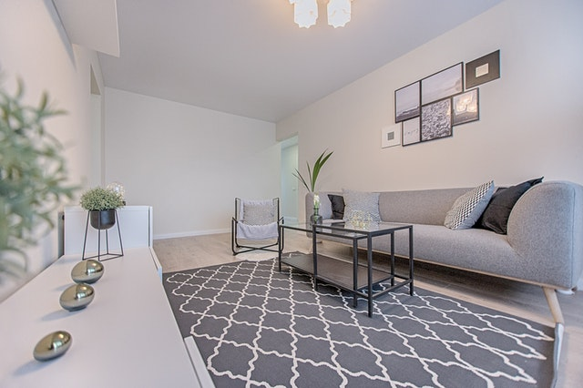 grey tones and wall art decor