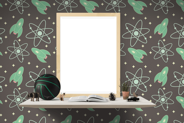 space wallpaper for kids room decor