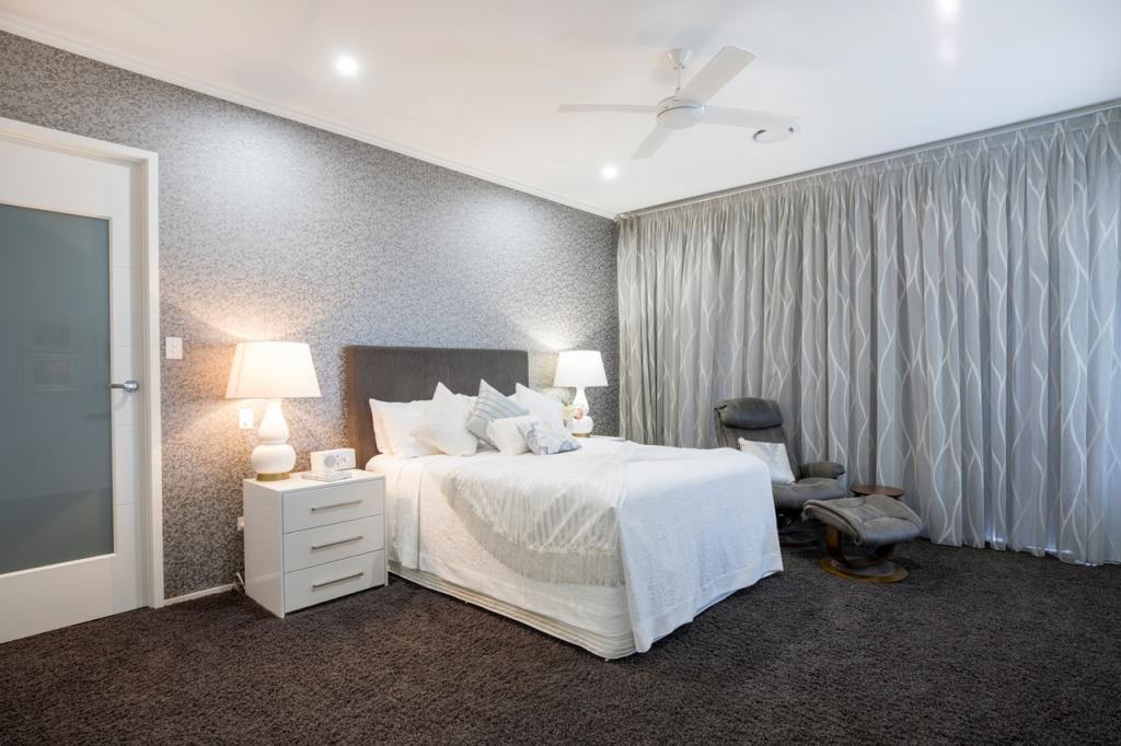 inspiring master bedroom color ideas and rug also white wooden 3 drawer chest