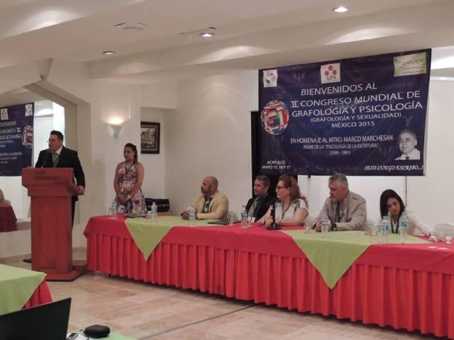 II Congresso Internacional de Psicologia e Grafologia 2015 Participação ilustre da nossa especialista brasileira Elisabeth Romar em Acapulco e Cidade do México