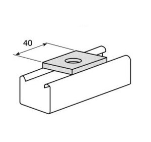 1 Hole Plate for Unistrut and Oglaended style metal frame