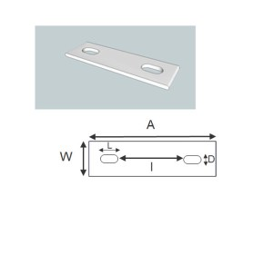 slotted backing plate schematic