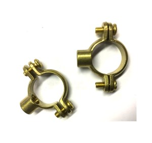 2 Brass Pipe Clamps, munsen type
