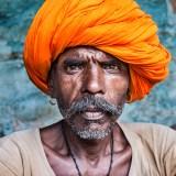 Man in orange turban