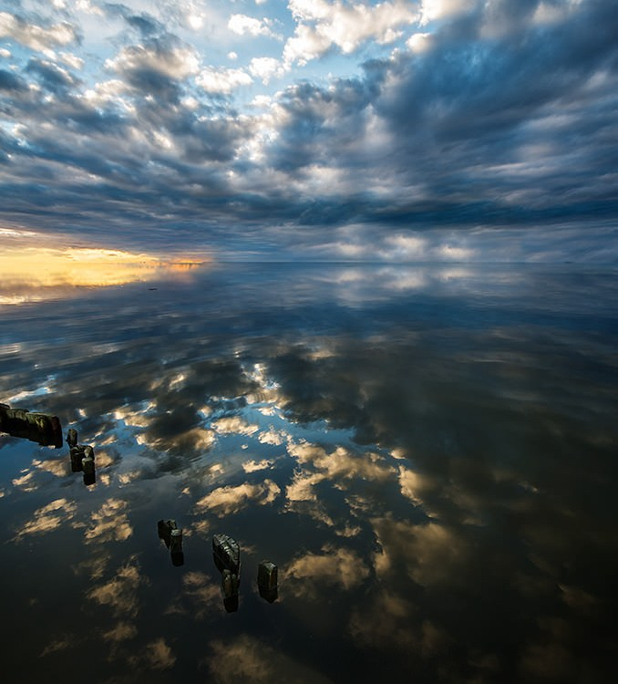 Reflections, Longue Exposure, Clouds, Sky, Sunset