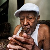 Cigar smoker in Havana