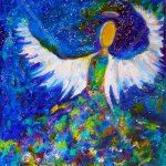 "Blue Angel 2 - 16"" x 20"" - SOLD"