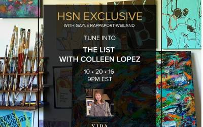 The Dream Come True: HSN features my VIDA art fashion tonight!
