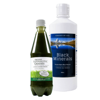 Natural Minerals + Probiotic Green Combo