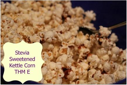 Stevia Sweetened Kettle Corn