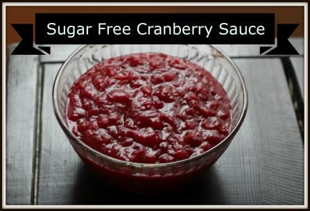 Sugar free cranberry sauce